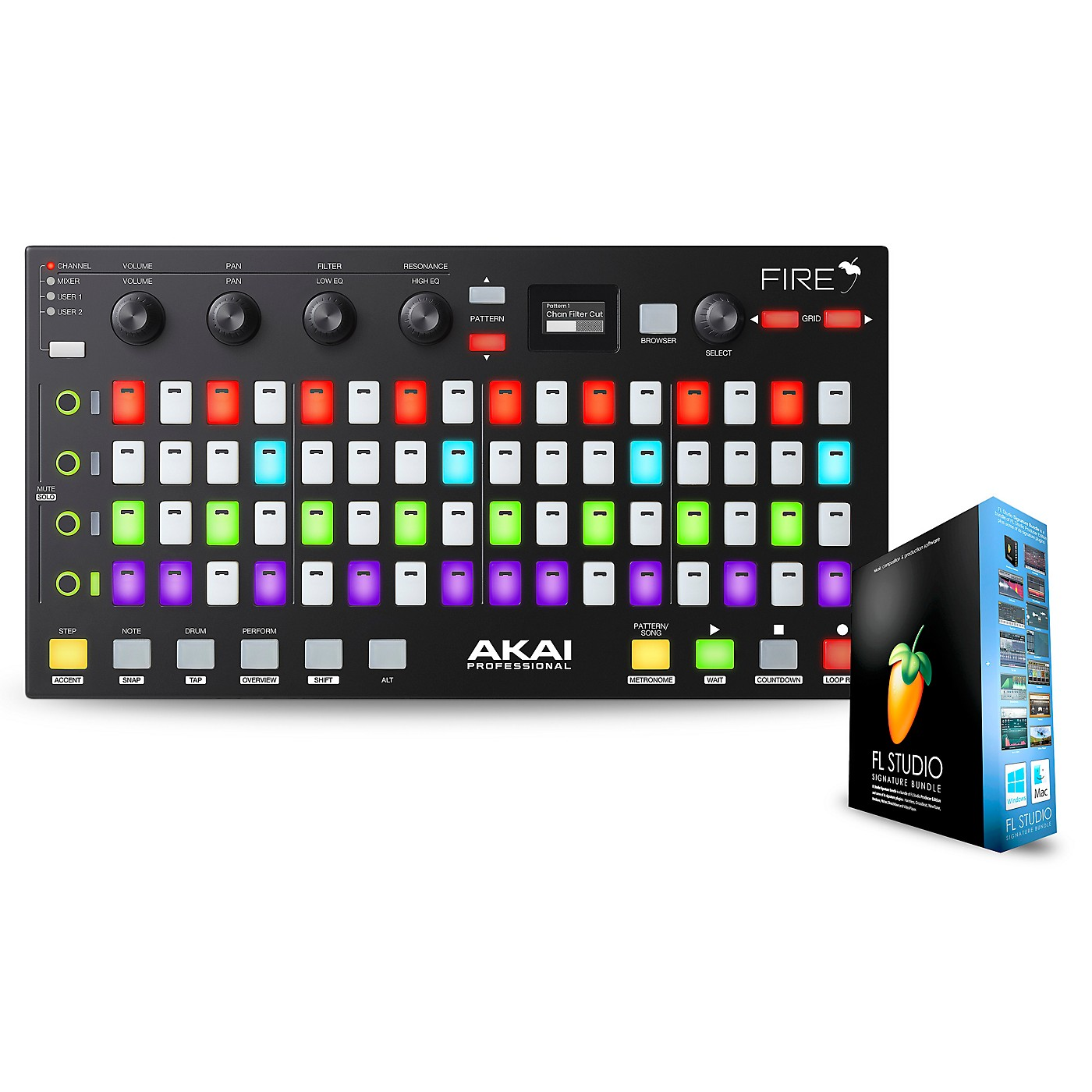 Akai Professional Fire FL Studio Controller with FL Studio Signature Bundle thumbnail