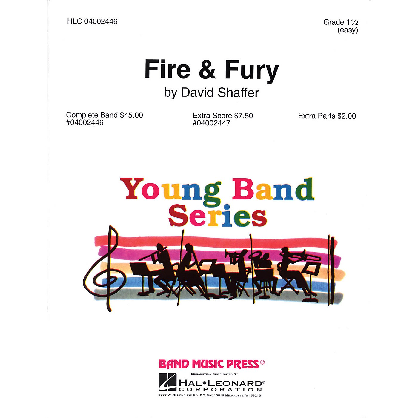 Band Music Press Fire & Fury Concert Band Level 1 1/2 Composed by David Shaffer thumbnail
