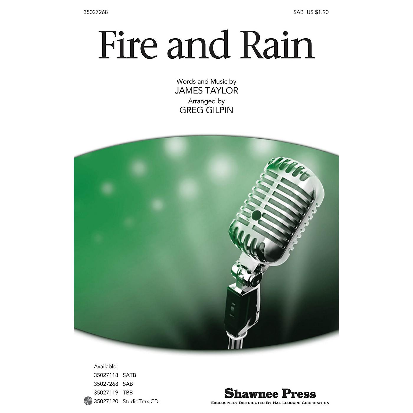 Shawnee Press Fire and Rain SAB by James Taylor arranged by Greg Gilpin thumbnail