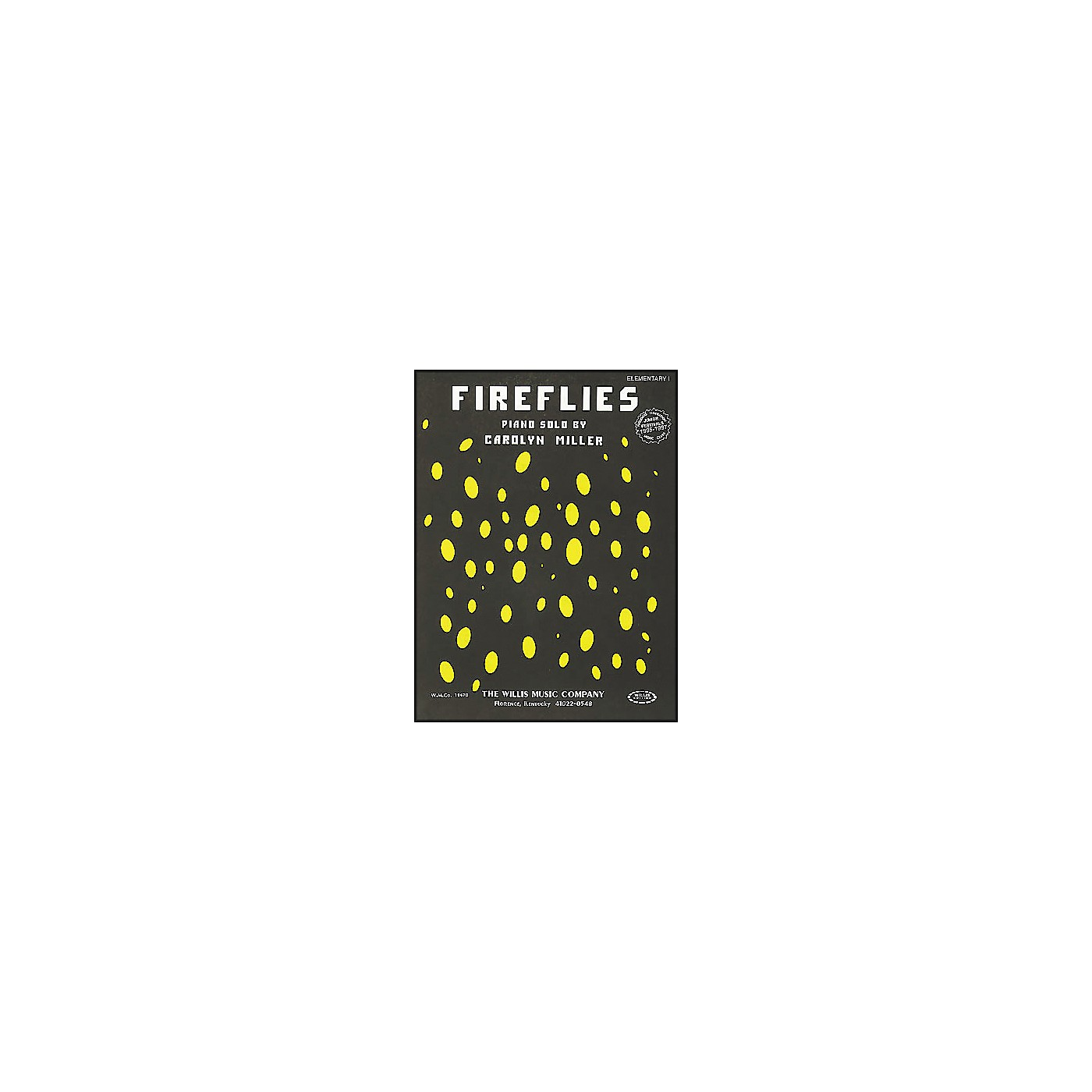 Willis Music Fireflies Late Elementary Piano Solo by Carolyn Miller thumbnail