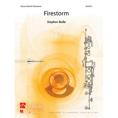De Haske Music Firestorm (Score) Concert Band Composed by Stephen Bulla thumbnail