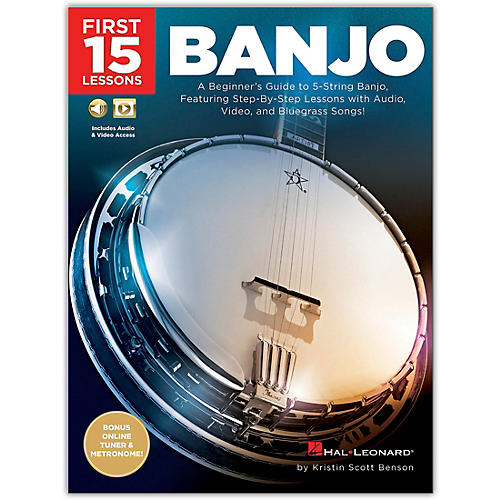 Hal Leonard First 15 Lessons - Banjo (A Beginner's Guide, Featuring Step-By-Step Lessons  and Bluegrass Songs!) Book/Media Online thumbnail