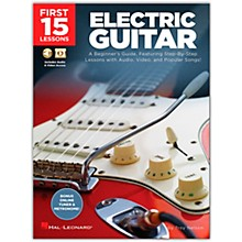 Hal Leonard First 15 Lessons Electric Guitar  A Beginner's Guide, Featuring Step-By-Step Lessons with Audio, Video, and Popular Songs! Book/Media Online
