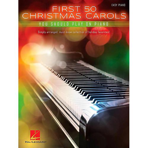 Hal Leonard First 50 Christmas Carols You Should Play On Piano thumbnail