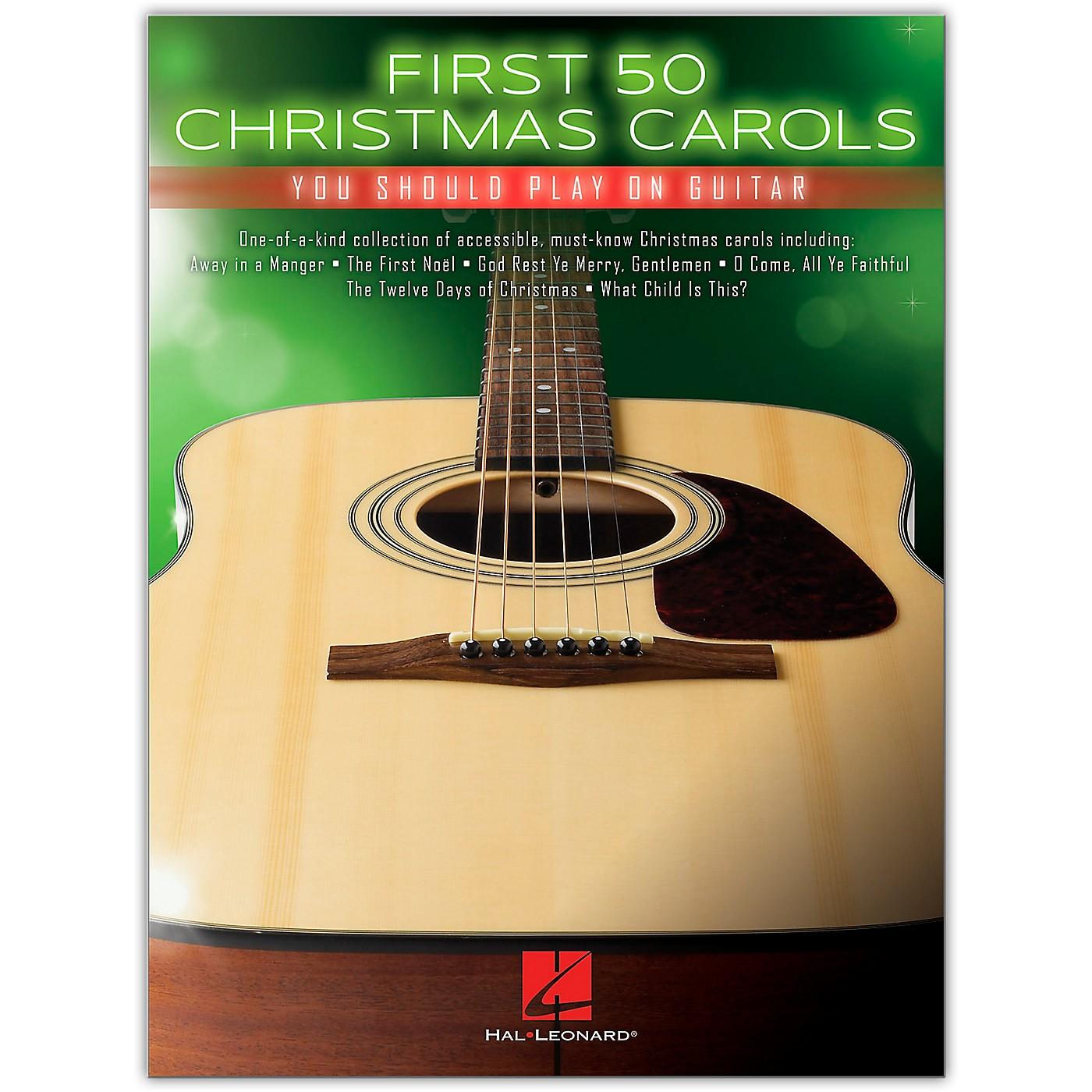 Hal Leonard First 50 Christmas Carols You Should Play on Guitar thumbnail