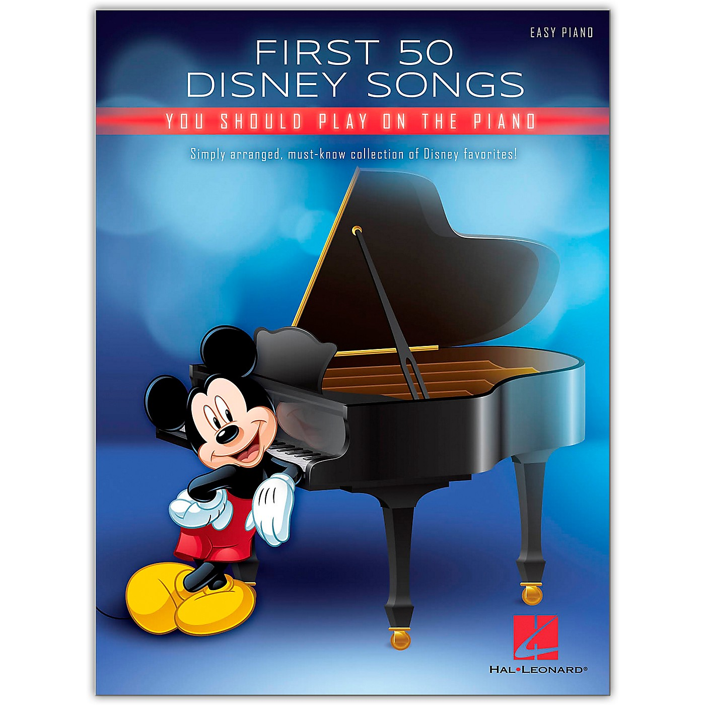 Hal Leonard First 50 Disney Songs You Should Play on the Piano Easy Piano Songbook thumbnail
