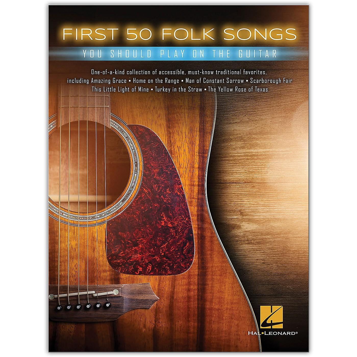 Hal Leonard First 50 Folk Songs You Should Play on Guitar thumbnail