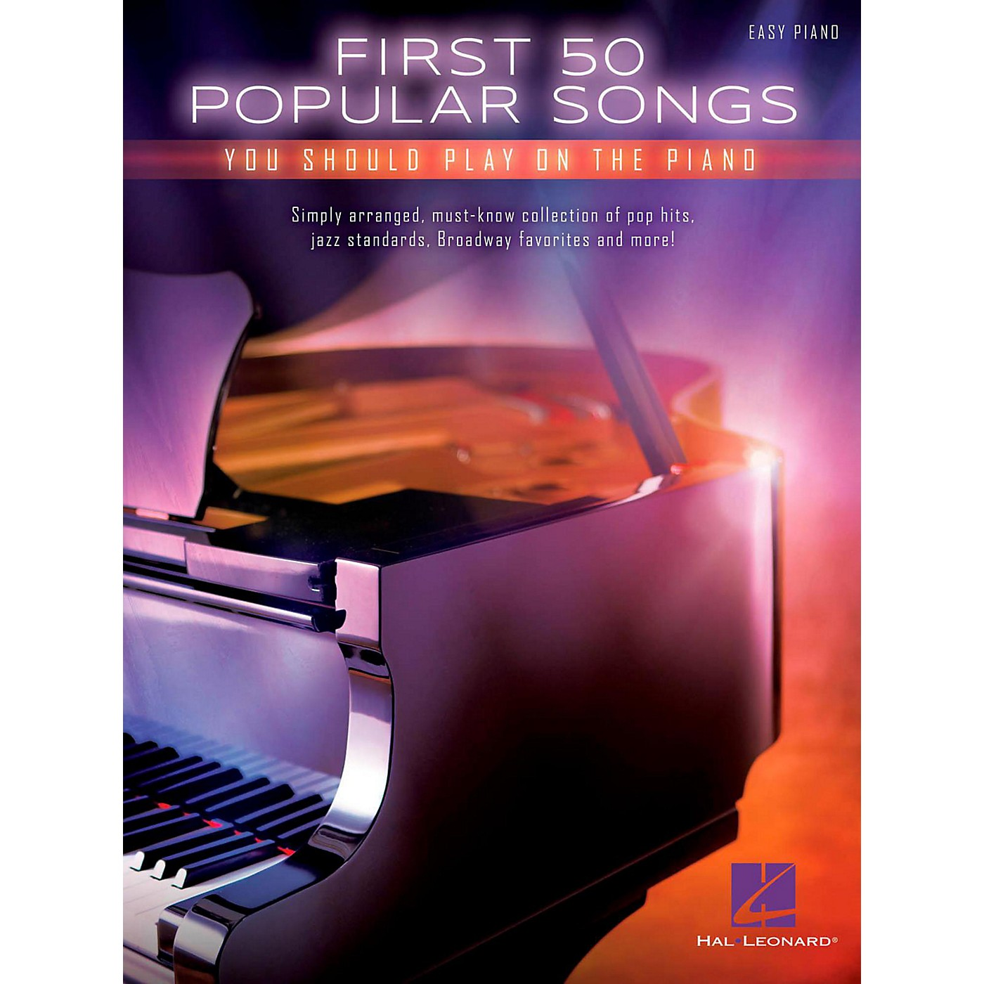 Hal Leonard First 50 Popular Songs You Should Play On The Piano (Easy Piano Notation) thumbnail