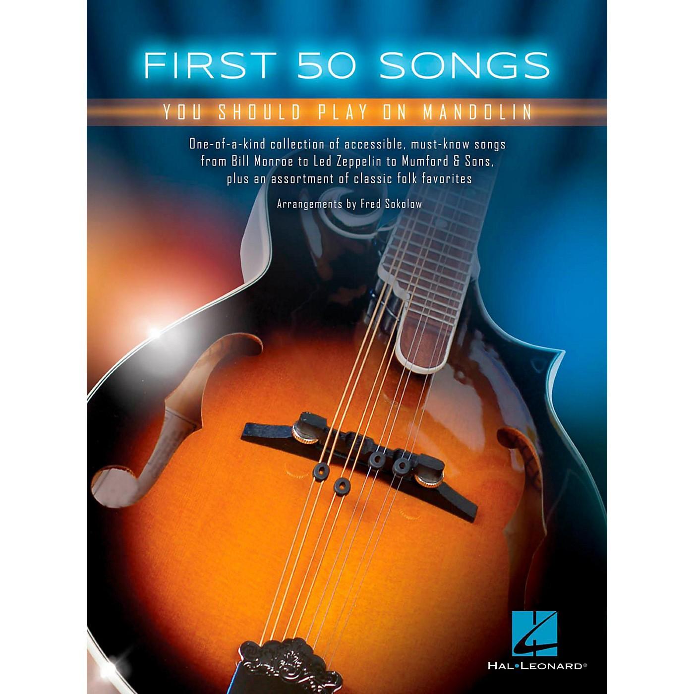 Hal Leonard First 50 Songs You Should Play on Mandolin thumbnail