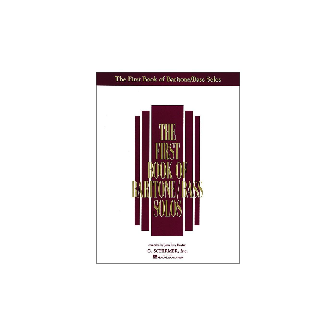 G. Schirmer First Book Of Baritone / Bass Solos thumbnail