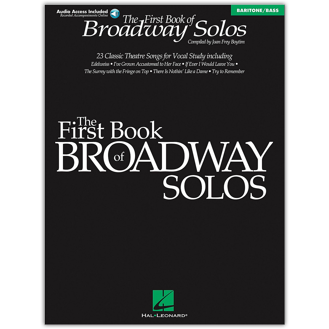 Hal Leonard First Book Of Broadway Solos Baritone/Bass (Book/Online Audio) thumbnail