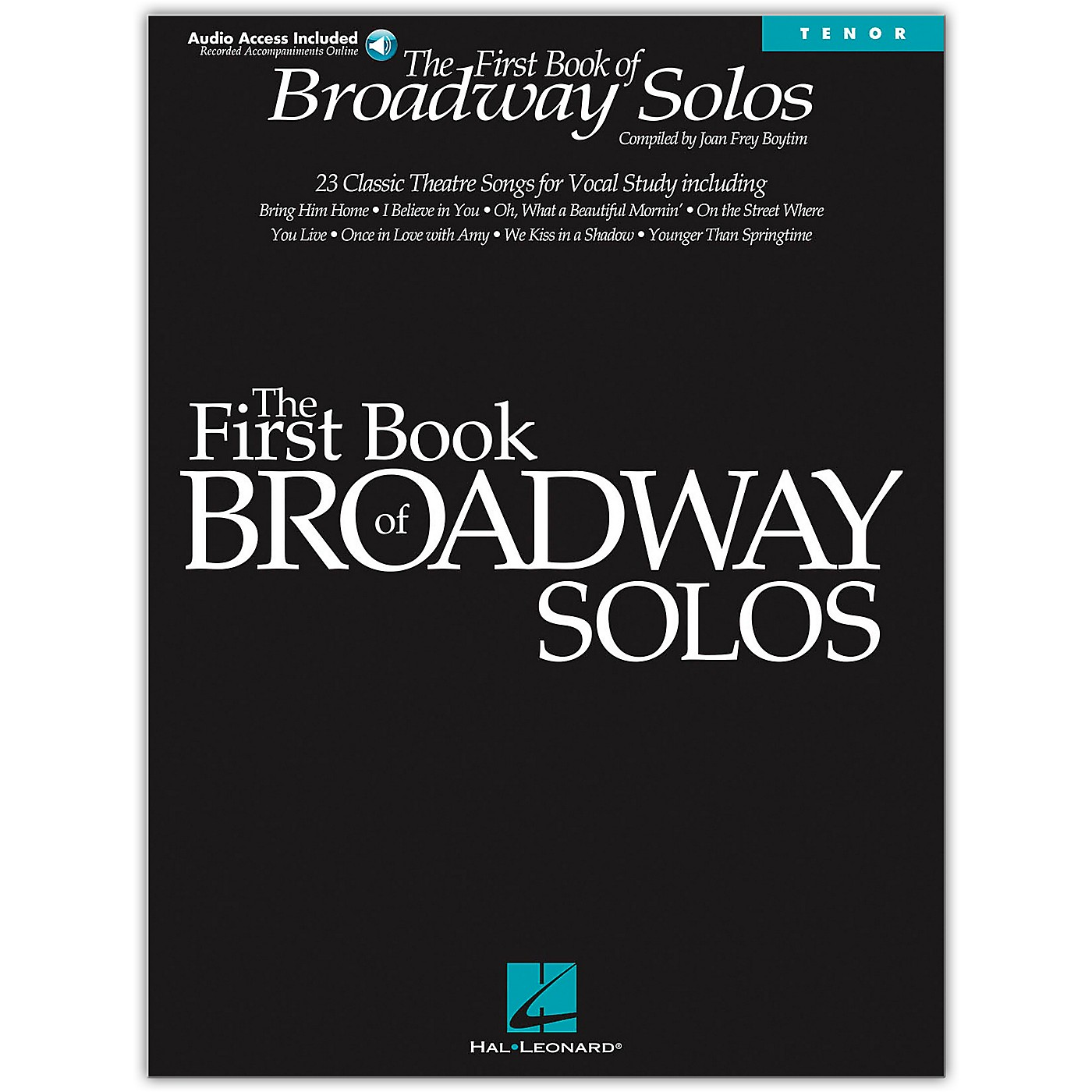 Hal Leonard First Book Of Broadway Solos for Tenor Voice (Book/Online Audio) thumbnail