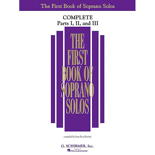 G. Schirmer First Book Of Soprano Solos Complete Parts 1, 2 and 3 thumbnail