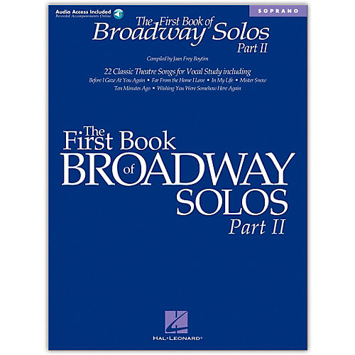 Hal Leonard First Book/Online Audio Of Broadway Solos Part II for Soprano Book/Online Audio thumbnail