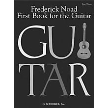 G. Schirmer First Book for the Guitar - Part 3 Book