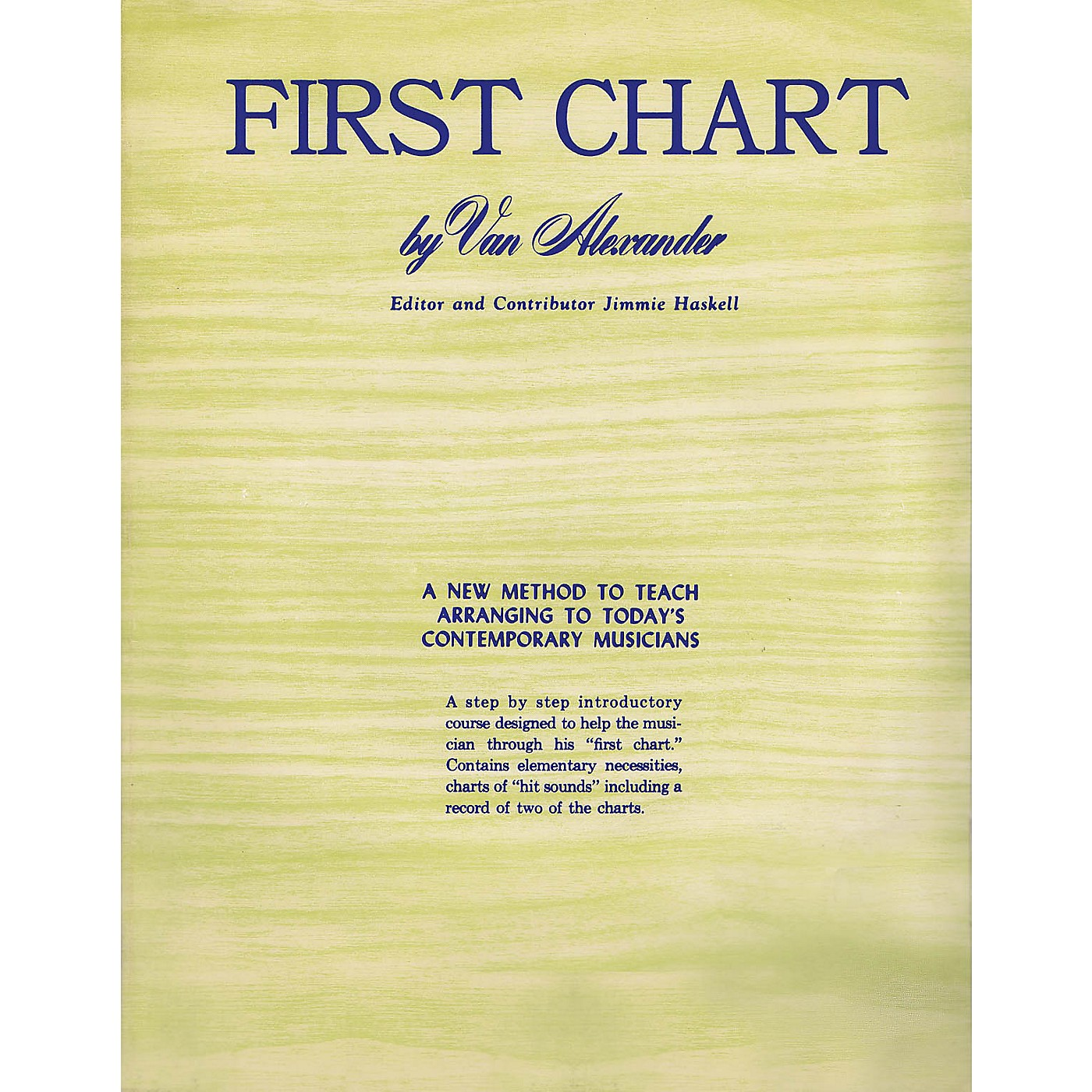 Criterion First Chart Criterion Series Softcover Written by Van Alexander thumbnail