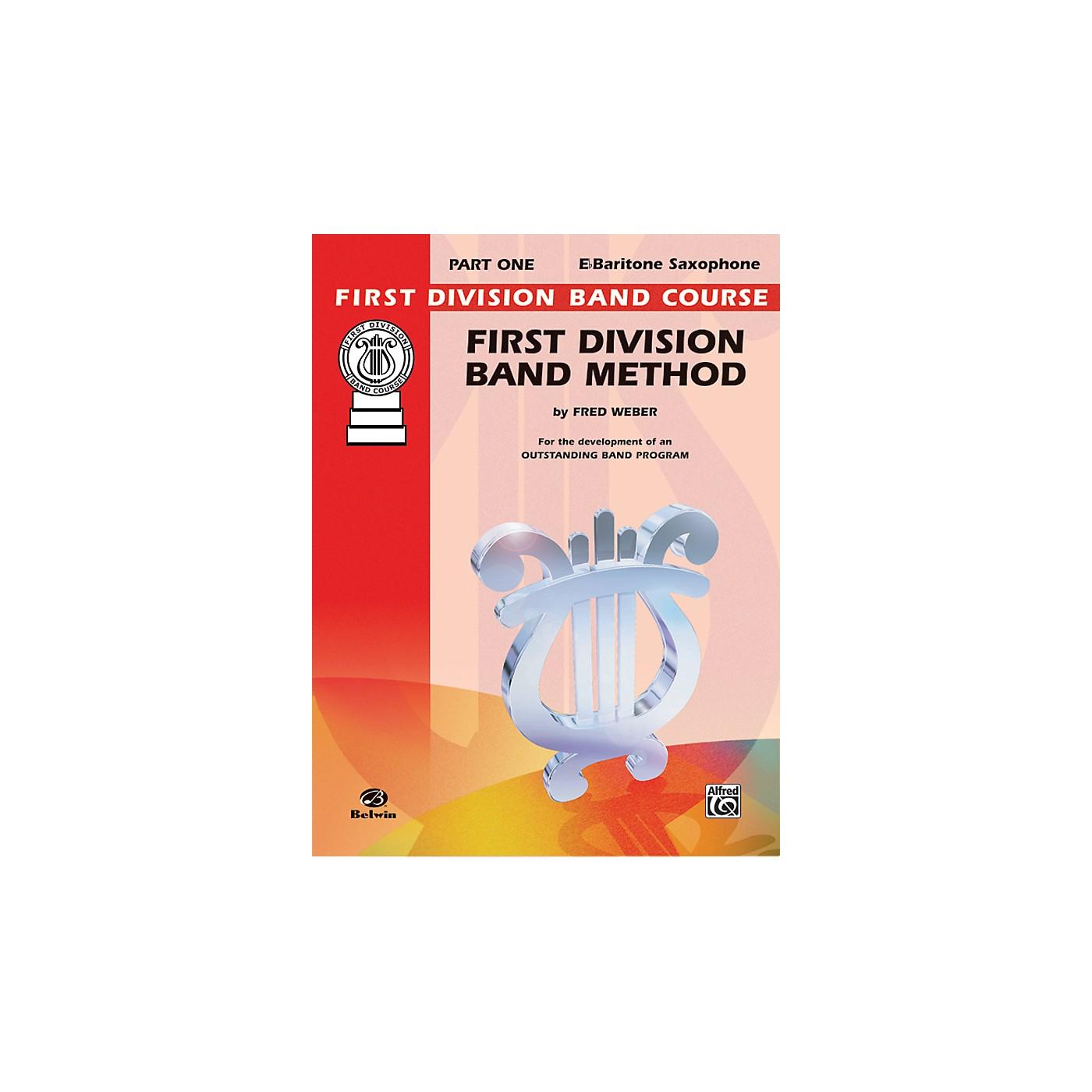 Alfred First Division Band Method Part 1 E-Flat Baritone Saxophone Book thumbnail