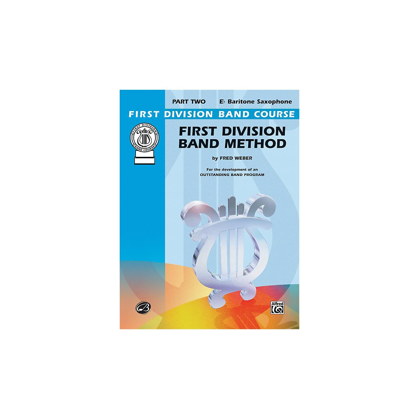Alfred First Division Band Method Part 2 E-Flat Baritone Saxophone Book thumbnail