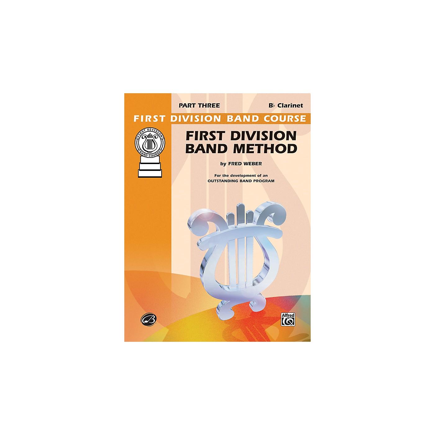 Alfred First Division Band Method Part 3 B-Flat Clarinet thumbnail