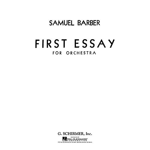 G. Schirmer First Essay for Orchestra (Study Score) Study Score Series Composed by Samuel Barber thumbnail