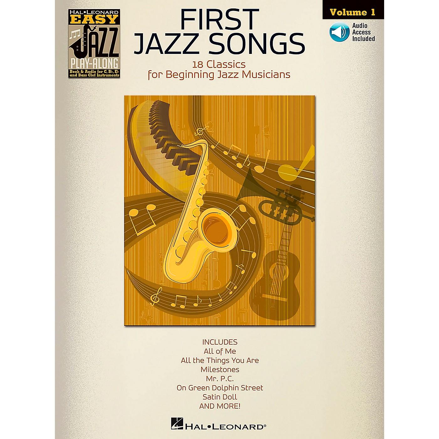 Hal Leonard First Jazz Songs - Easy Jazz Play-Along Vol. 1 Book/CD thumbnail