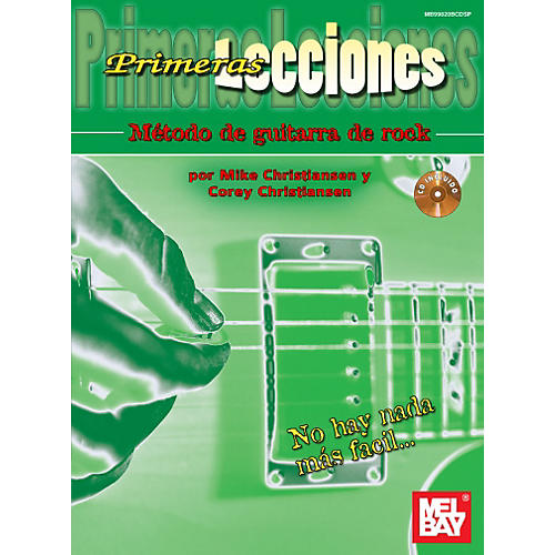 Mel Bay First Lessons Rock Guitar, Spanish Edition Book/CD Set thumbnail