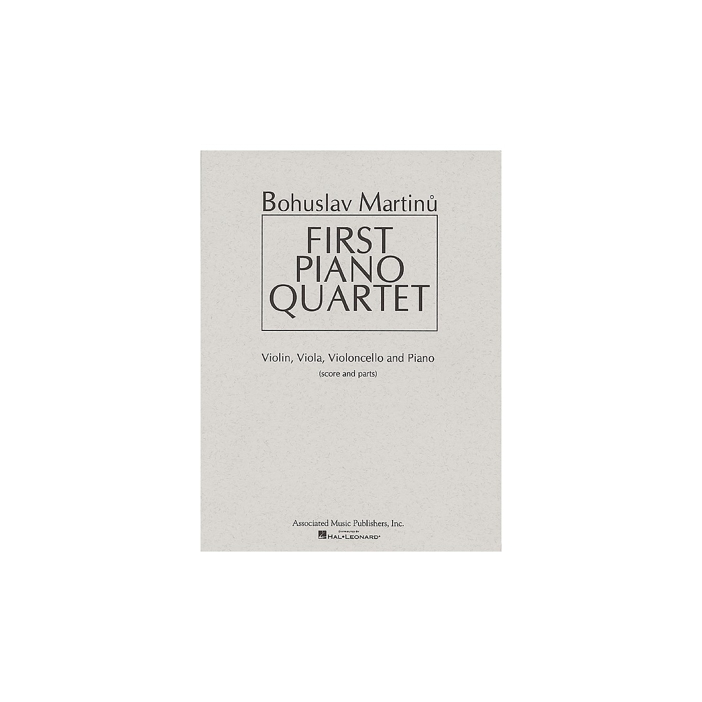 Associated First Piano Quartet (Score and Parts) Ensemble Series Composed by Bohuslav Martinu thumbnail