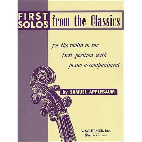 G. Schirmer First Solos From The Classics for Violin in First Position thumbnail