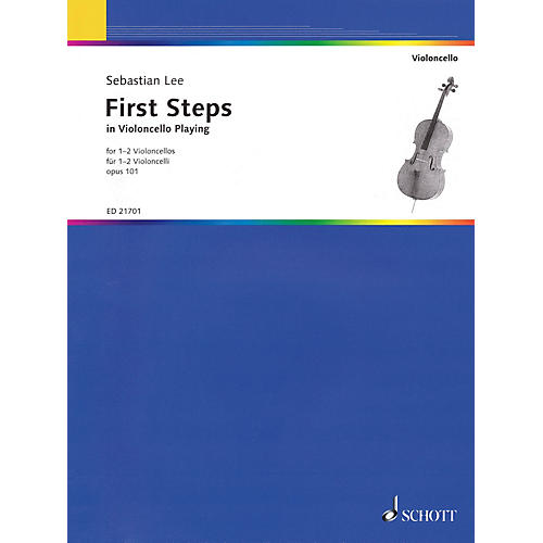 Schott First Steps in Violoncello Playing, Op. 101 (For 1-2 Violoncellos) String Series Softcover thumbnail