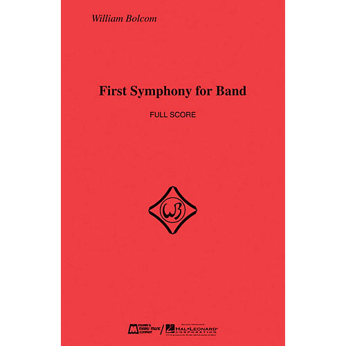 Edward B. Marks Music Company First Symphony for Band (Score Only) Concert Band Composed by William Bolcom thumbnail