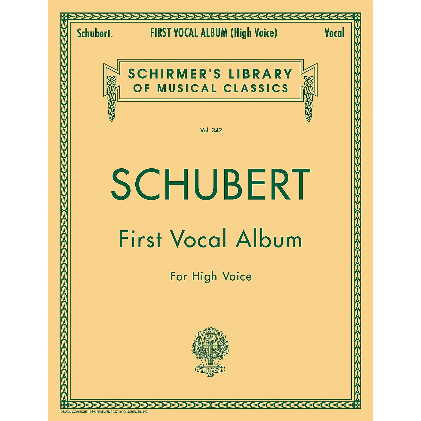G. Schirmer First Vocal Album for High Voice / Piano (German / English) thumbnail