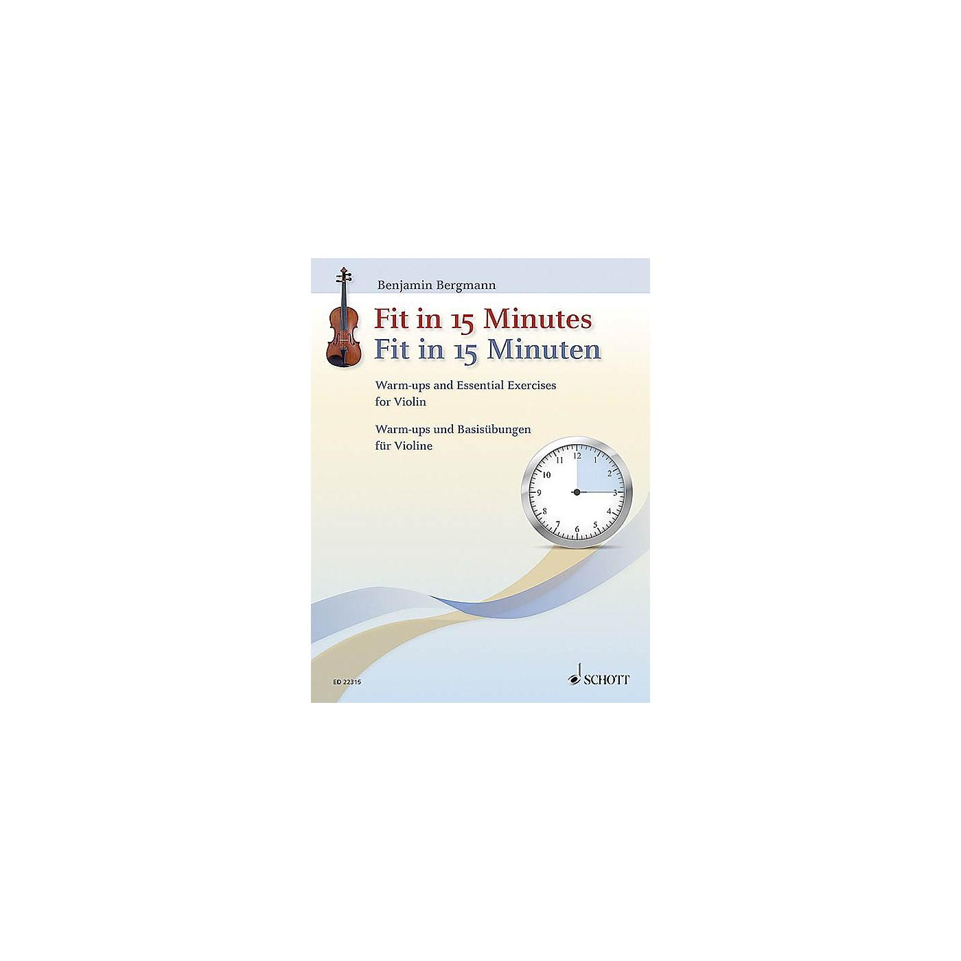 Schott Fit In 15 Minutes String Series Softcover Written by Benjamin Bergmann thumbnail