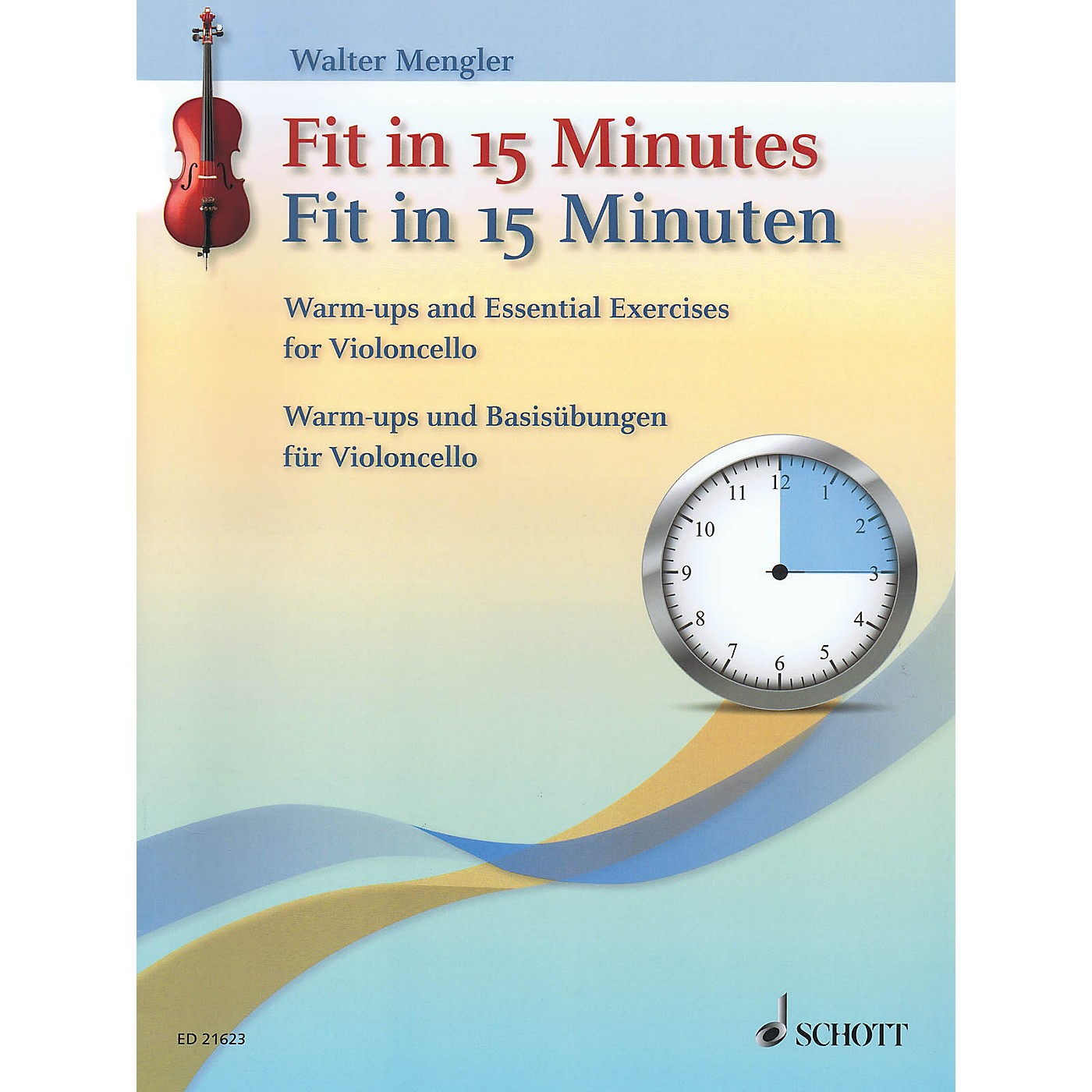 Schott Fit In 15 Minutes (Warm-Ups and Basic Exercises for Cello) String Series Softcover thumbnail