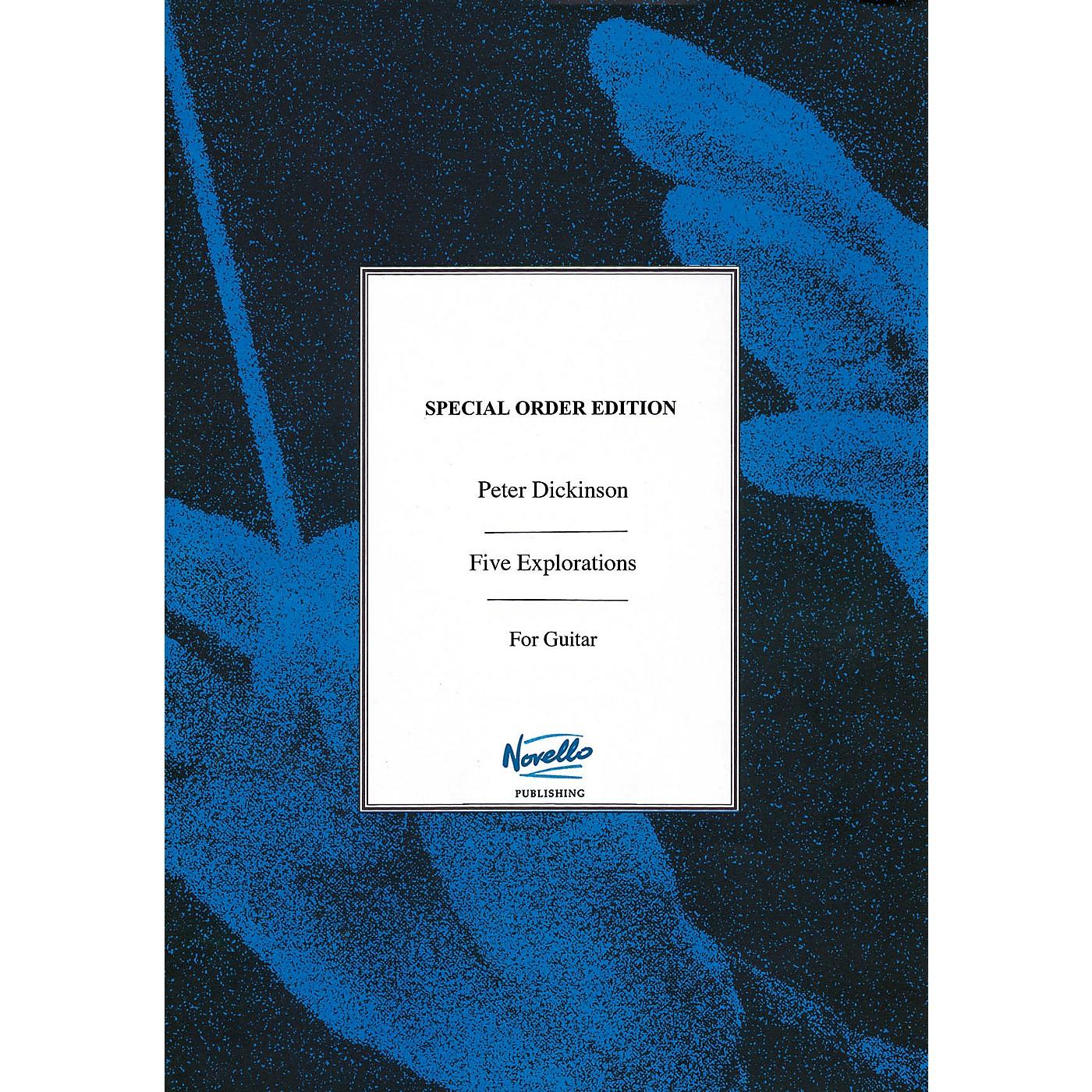 Novello Five Explorations (Solo Guitar Facsimile Edition) Music Sales America Series Softcover thumbnail