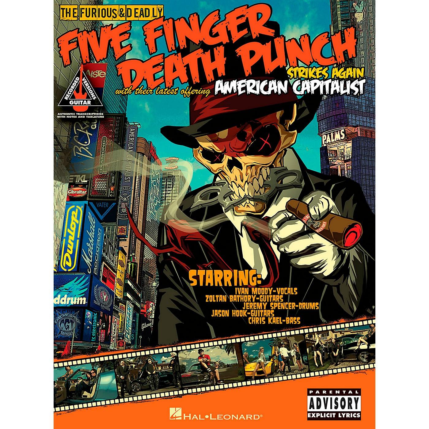 Hal Leonard Five Finger Death Punch - American Capitalist Guitar Tab Songbook thumbnail
