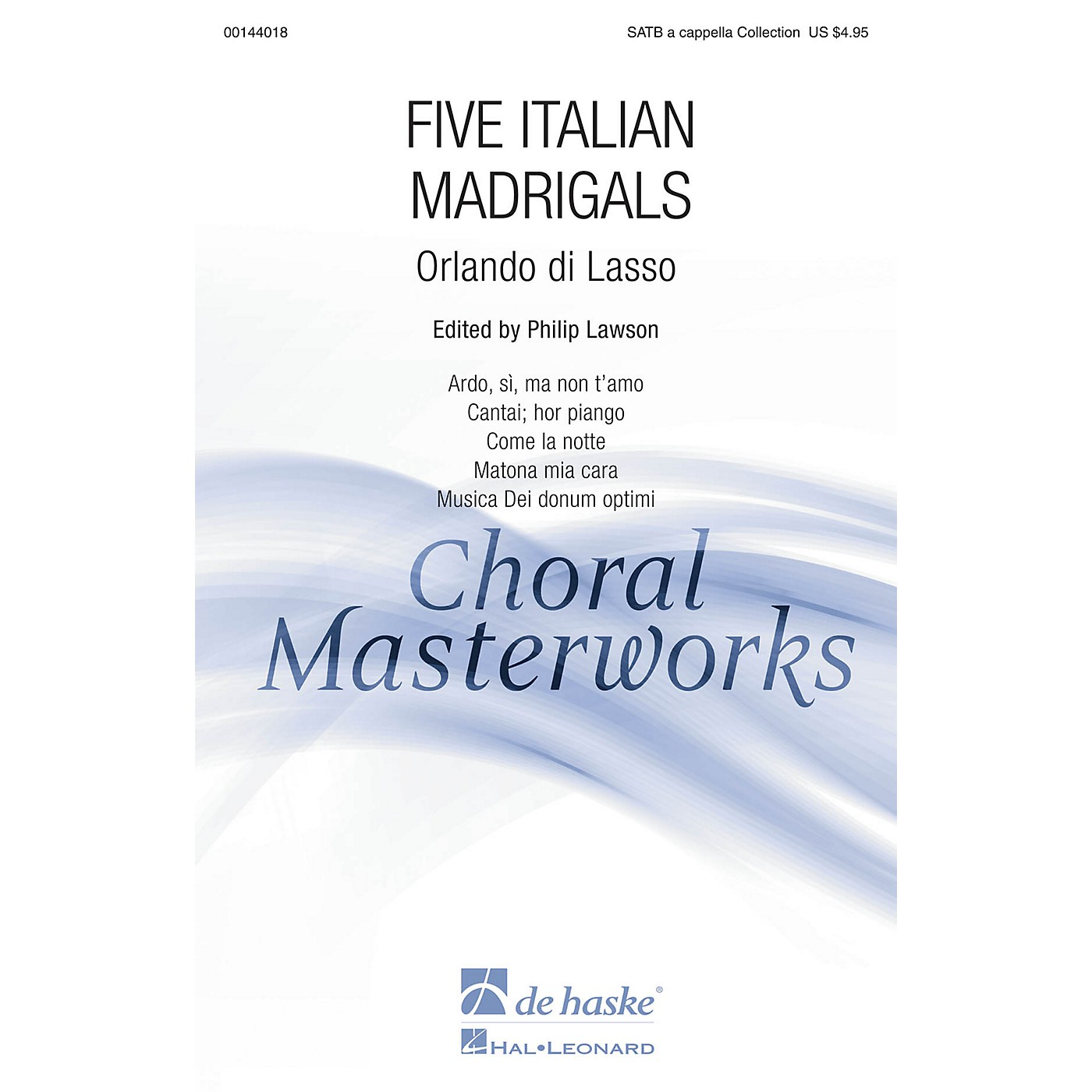 De Haske Music Five Italian Madrigals (Collection) SATB A CAPPELLA COLLECTION arranged by Philip Lawson thumbnail