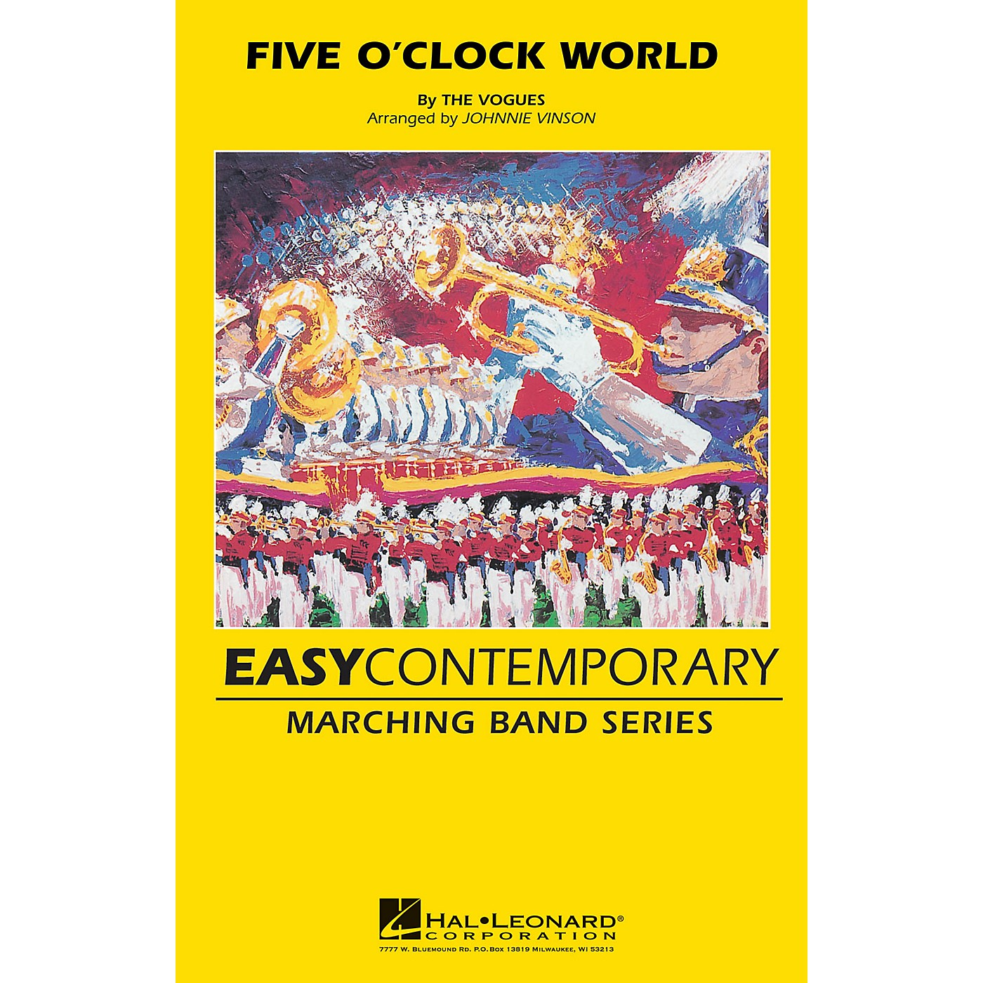 Hal Leonard Five O'clock World Marching Band Level 2-3 by The Vogues Arranged by Johnnie Vinson thumbnail