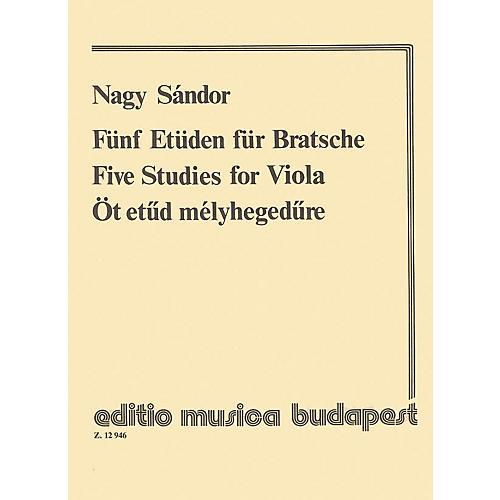 Editio Musica Budapest Five Studies EMB Series by Sándor Nagy thumbnail