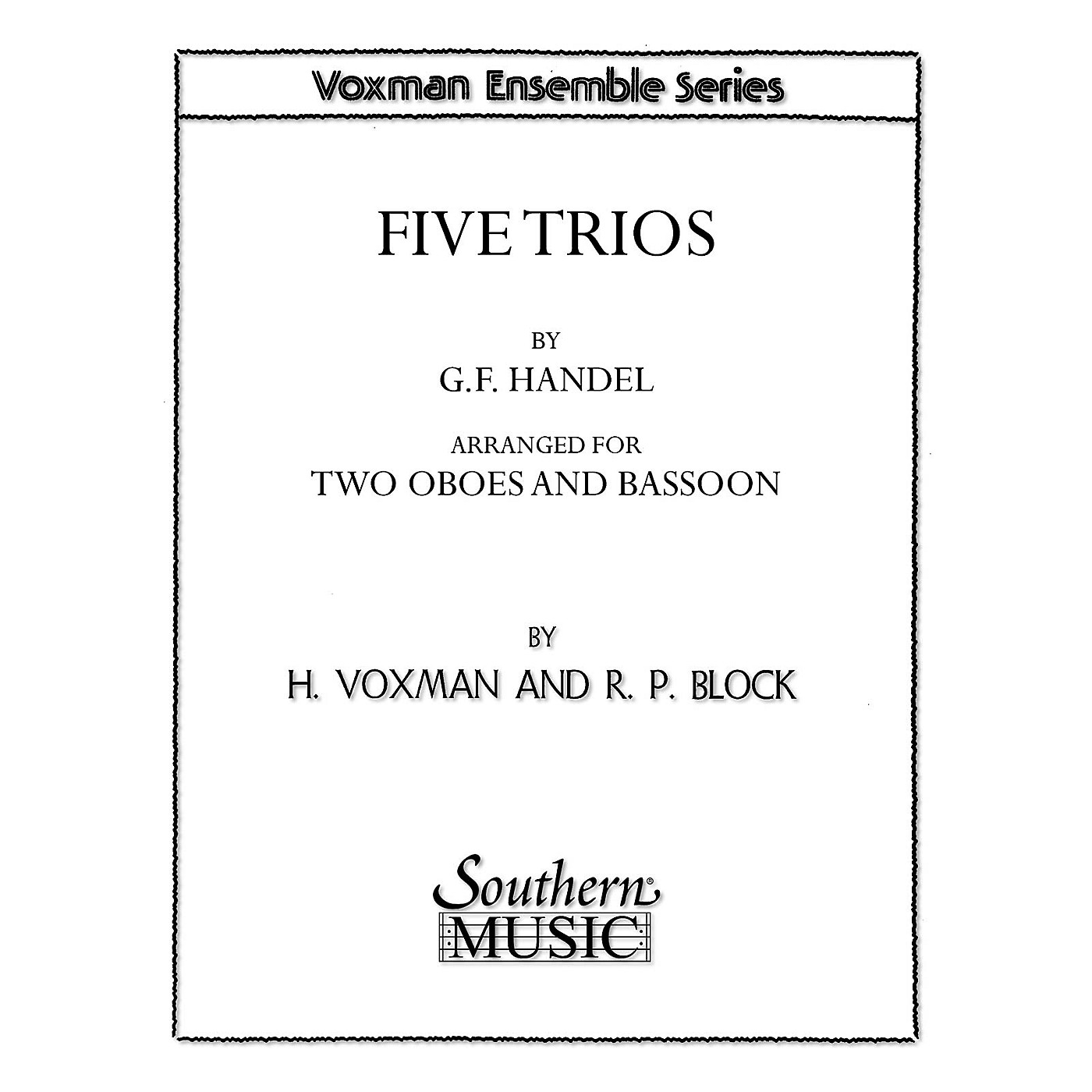 Southern Five Trios (Woodwind Trio) Southern Music Series Arranged by Himie Voxman thumbnail