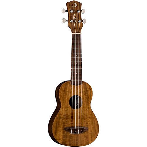 Luna Guitars Flamed Acacia Soprano Ukulele thumbnail
