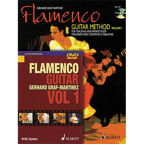 Schott Flamenco Guitar Method Volume 1 Book with CD and DVD-thumbnail