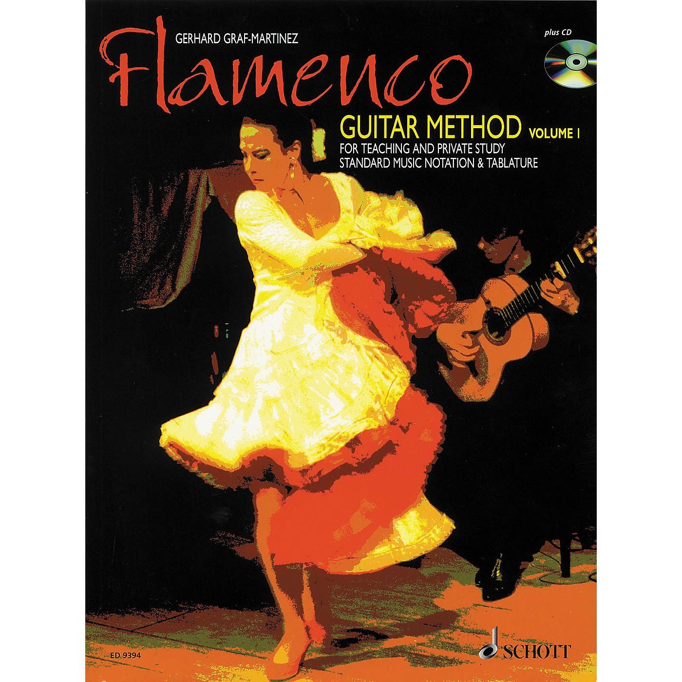 Schott Flamenco Guitar Method Volume 1 Book with CD thumbnail