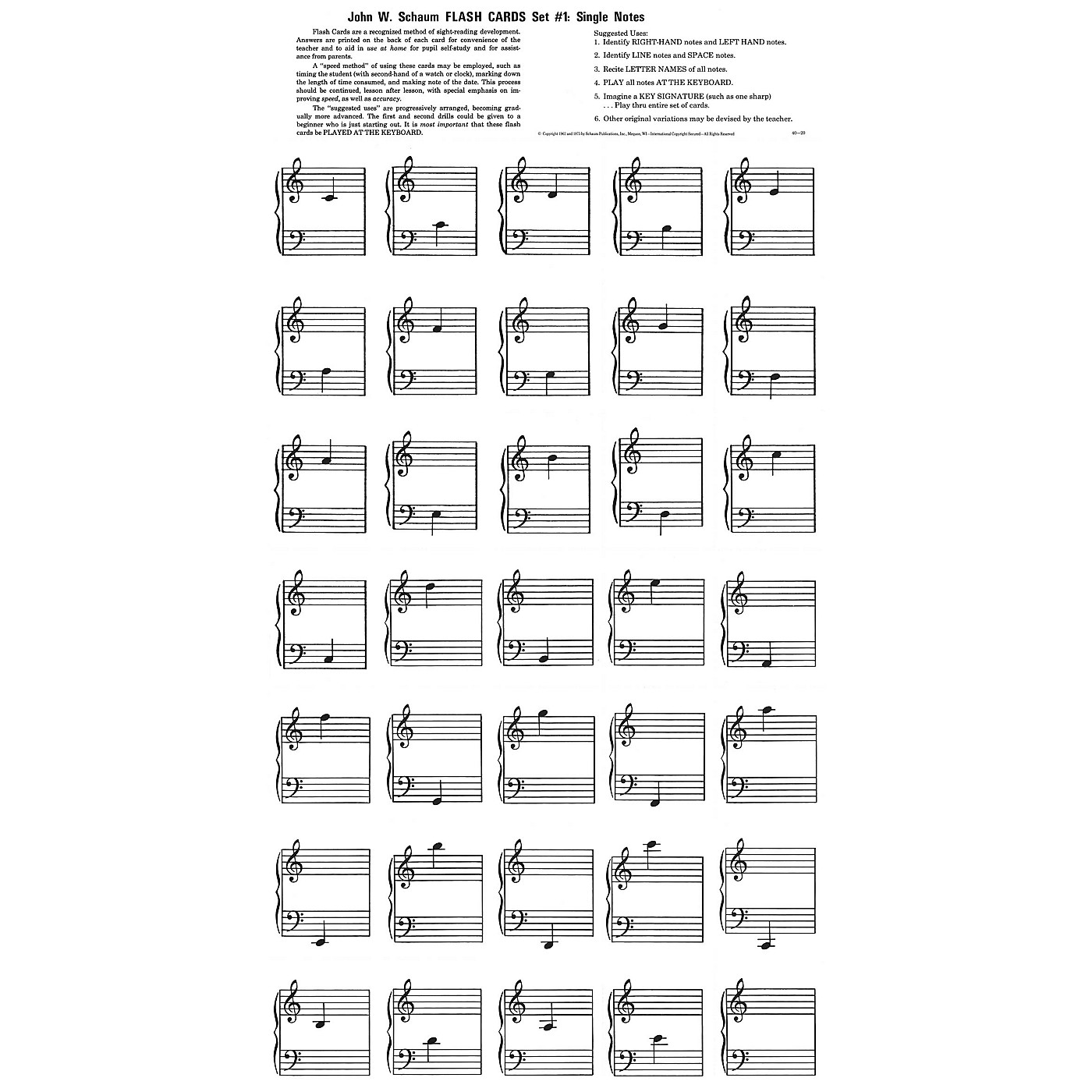 SCHAUM Flash Cards - Set 1 Educational Piano Series Softcover thumbnail