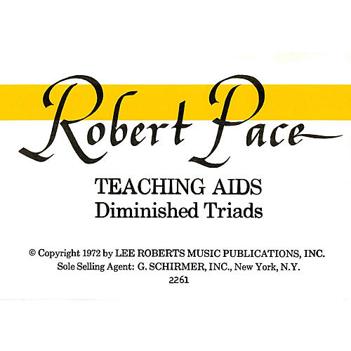 Lee Roberts Flash Cards, Diminished Triads Pace Piano Education Series thumbnail