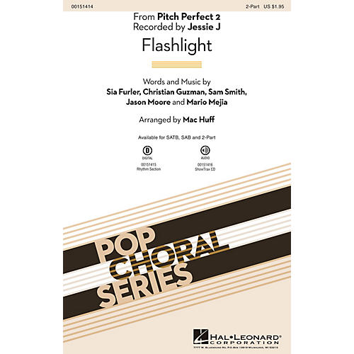 Hal Leonard Flashlight (from Pitch Perfect 2) 2-Part by Sia arranged by Mac Huff thumbnail