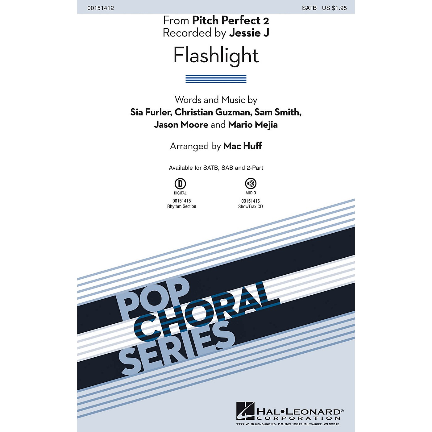 Hal Leonard Flashlight (from Pitch Perfect 2) SATB by Sia arranged by Mac Huff thumbnail