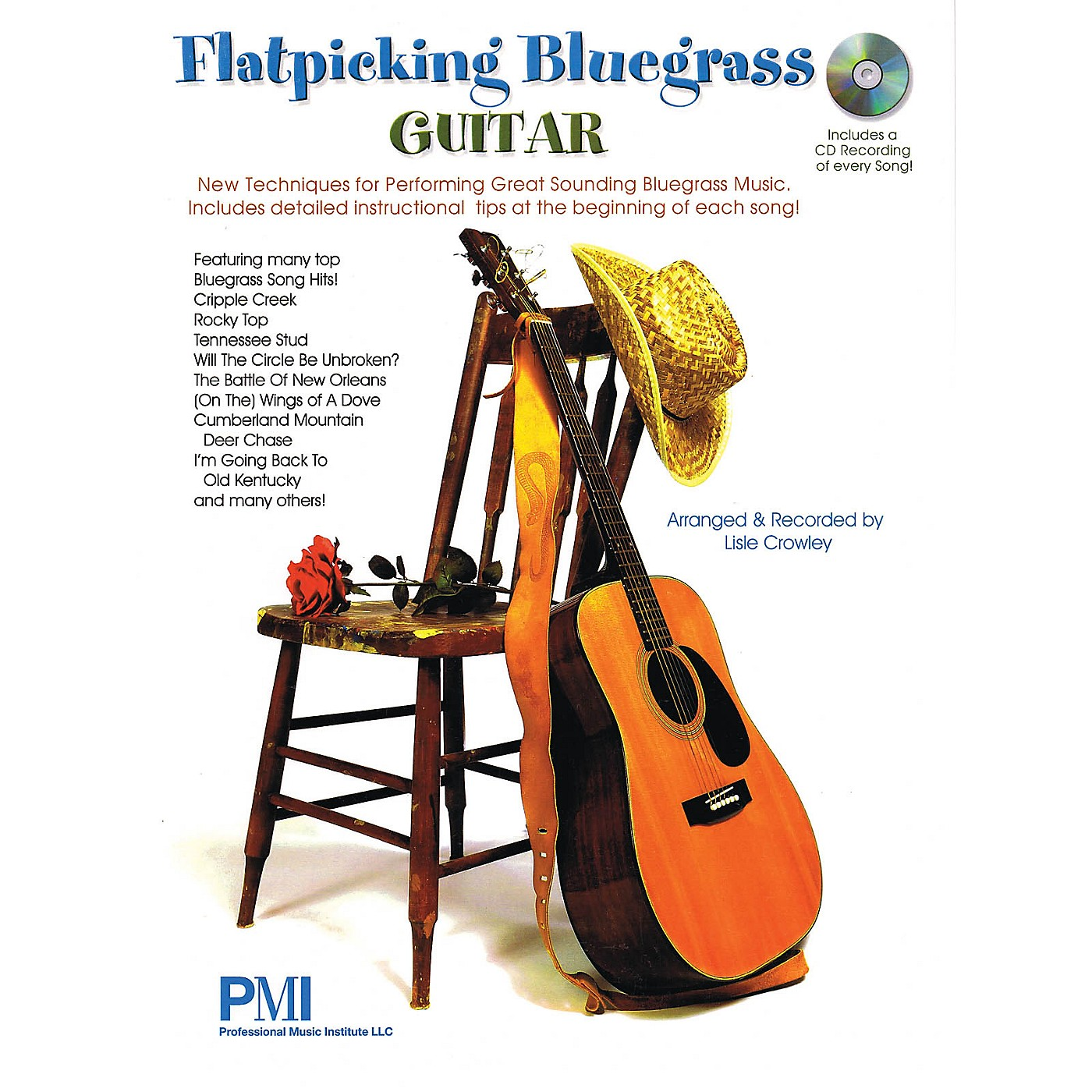 Professional Music Institute Flatpicking Bluegrass Guitar Guitar Solo Series Softcover with CD thumbnail