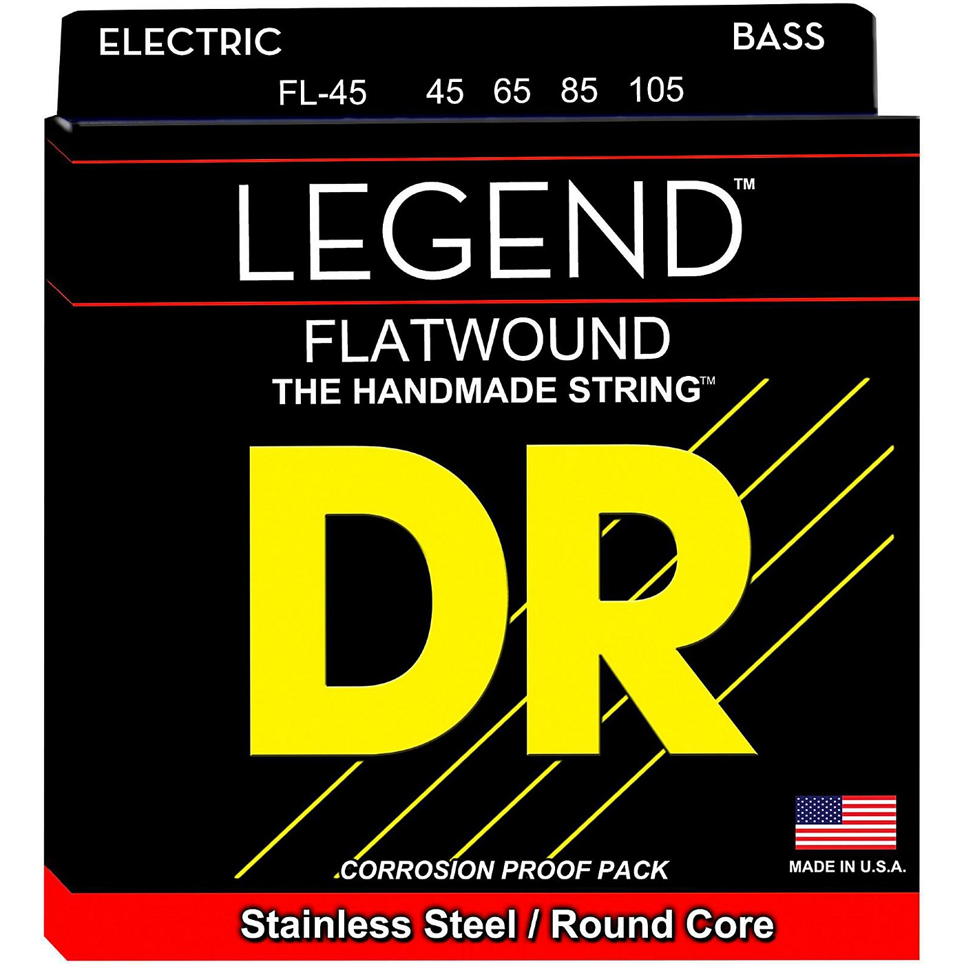 DR Strings Flatwound Legend Bass Strings Medium thumbnail