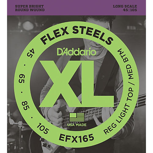 D'Addario Flexsteels Long Scale Bass Guitar Strings (45-105) thumbnail
