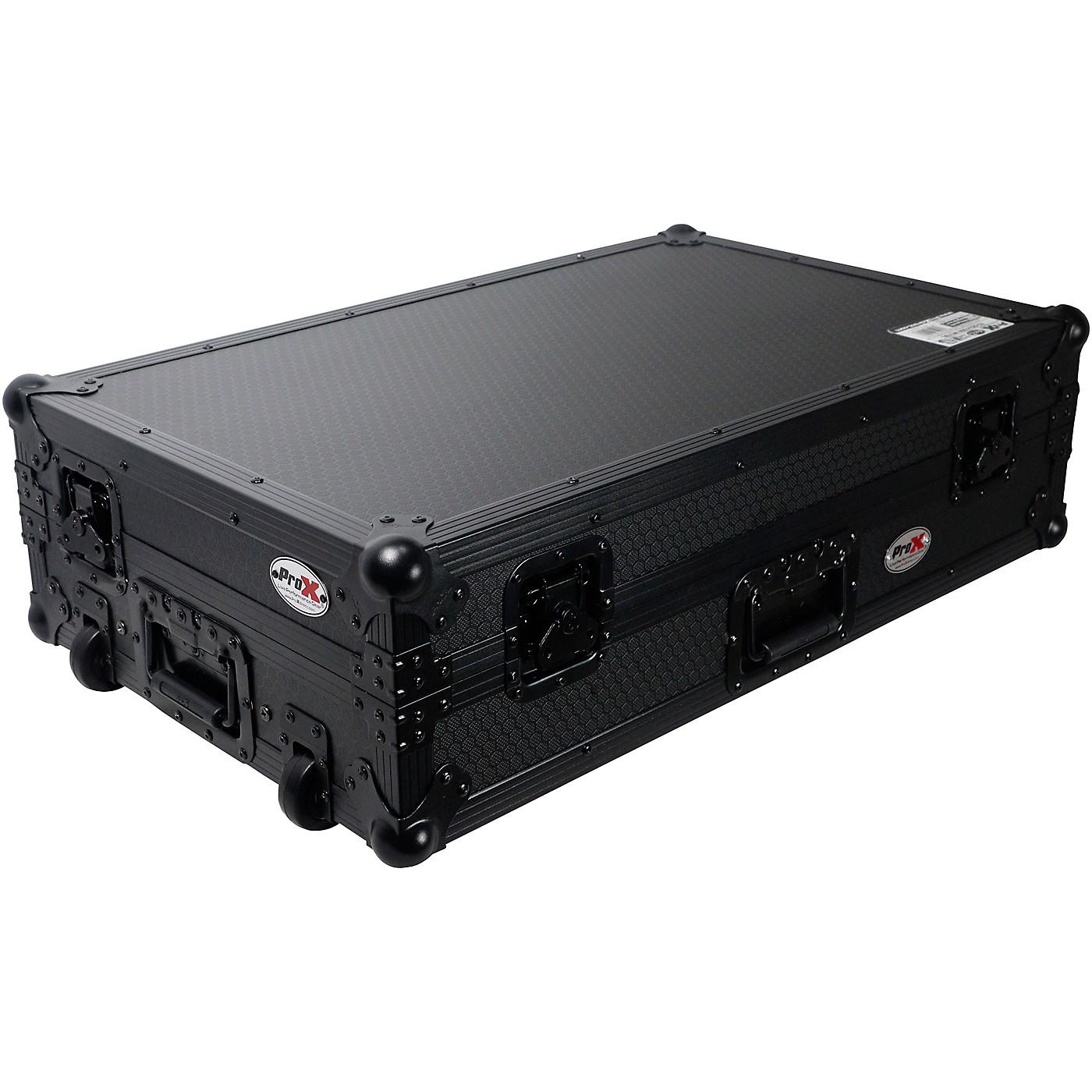 ProX Flight Case For RANE ONE Dj Controller W-Sliding Laptop Shelf & Wheels| Black on Black thumbnail